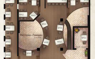 Схема залов в ресторане «Тамада»
