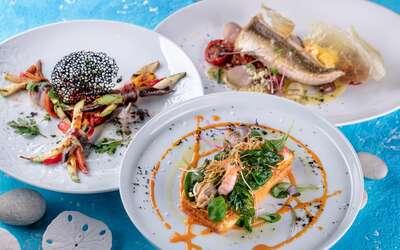 Морской петух, чёрная треска, вонголе — деликатесный сет к РРФ в ресторане «Черетто Море»