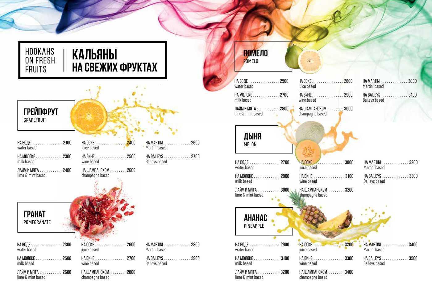 Меню ресторана Паруса на Петровской косе фото 41