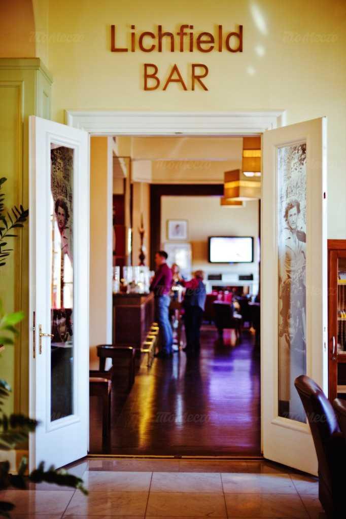 Меню бара Lichfield бар на Большой Морской улице