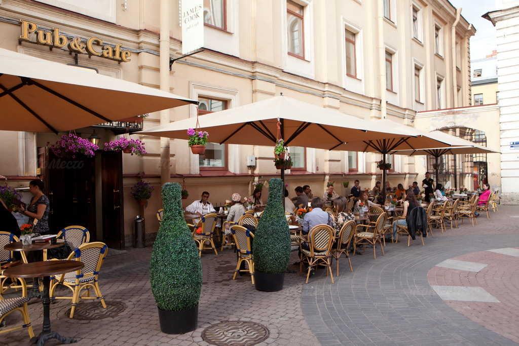 Меню бара, паба, пивного ресторана, стейк-хауса Джеймс Кук (James Cook) в Шведском переулке