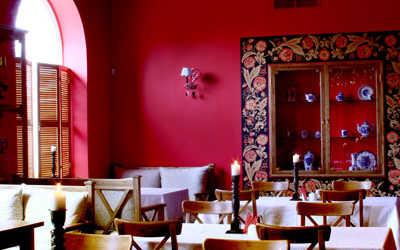 Банкетный зал ресторана Романс кафе на Санкт-Петербургском проспекте