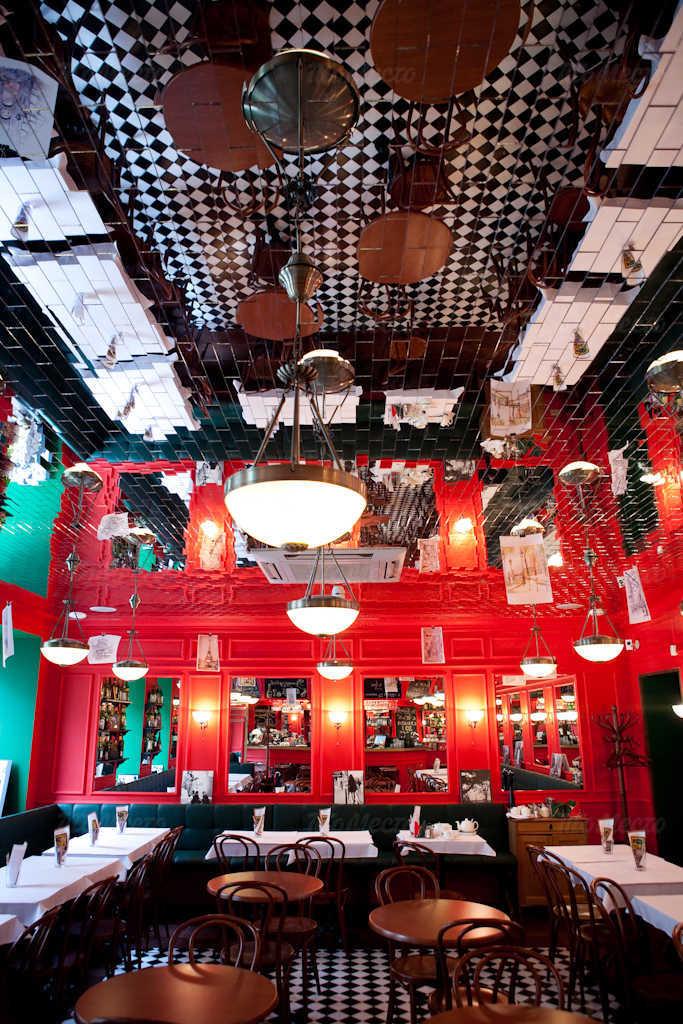 Меню бара, кафе Жан-Жак Руссо на Невском проспекте