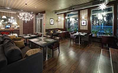 Банкетный зал ресторана, стейк-хауса Bullhouse (Буллхаус) на Каменноостровском проспекте