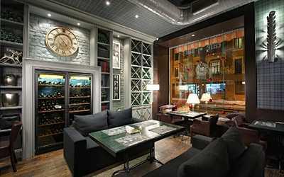 Банкетный зал ресторана, стейк-хауса Bullhouse (Буллхаус) в Большой Зеленине улица