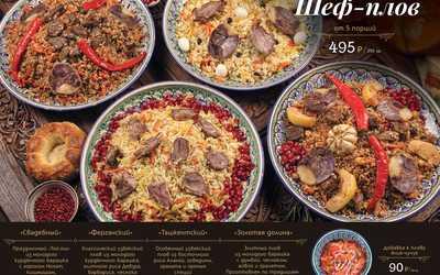 Банкетное меню ресторана Чайхана Павлин Мавлин на улице Большой Академической фото 3