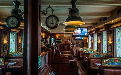 Банкетный зал паба Темпл бар (Temple bar) на Большой Грузинской улице фото 1