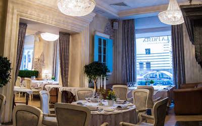 Банкетный зал ресторана La Prima (Ля Прима) на улице Большой Дмитровка
