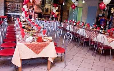 Банкетный зал бара, кафе Кураж на улице Красных Зорь фото 2