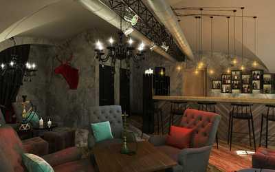 Банкетный зал ресторана Hottabych (Lounge Resto Bar) в Биржевом переулке