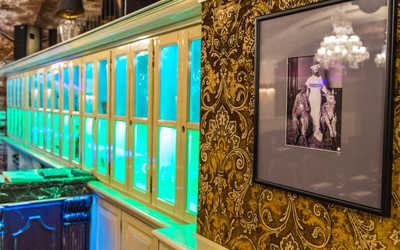 Банкетный зал бара, караоке клуба Romanov bar (Романов бар) в Третьяковском проезде