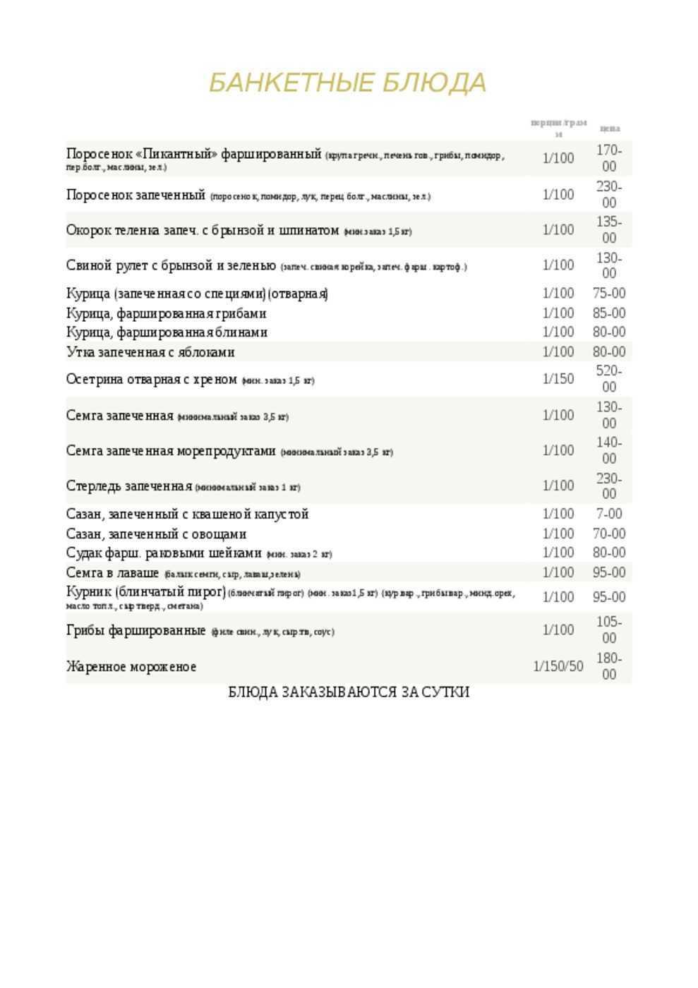 Меню кафе Делис в Таганрогской фото 8