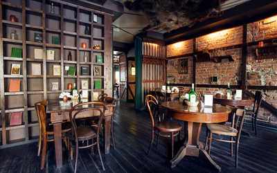 Банкетный зал пивного ресторана Кнайпе Jager Haus (Ягер Хаус) в Правдах