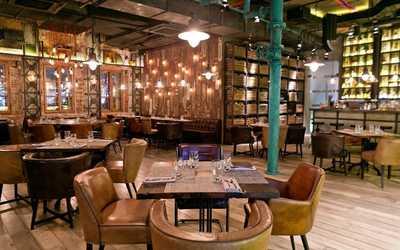 Банкетный зал бара, ресторана Фаренгейт на Тверском бульваре