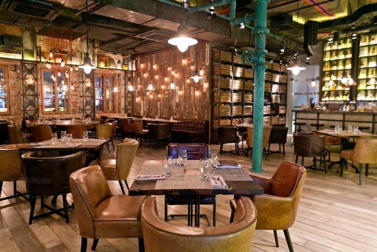 Меню бара, ресторана Фаренгейт на Тверском бульваре
