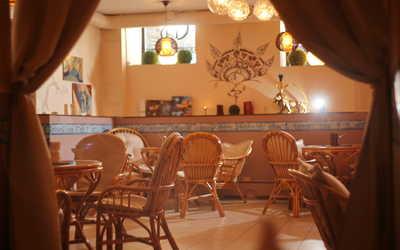 Банкетный зал кафе, ресторана Индиго (Indigo) на Разъезжей улице