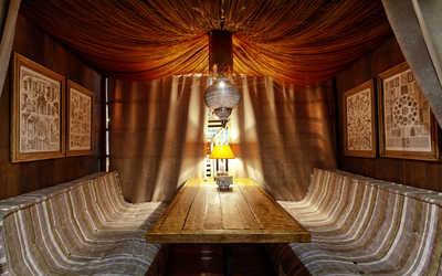 Банкетный зал ресторана Бельмесы (бывш. Уральские пельмени) на проспекте Ленина