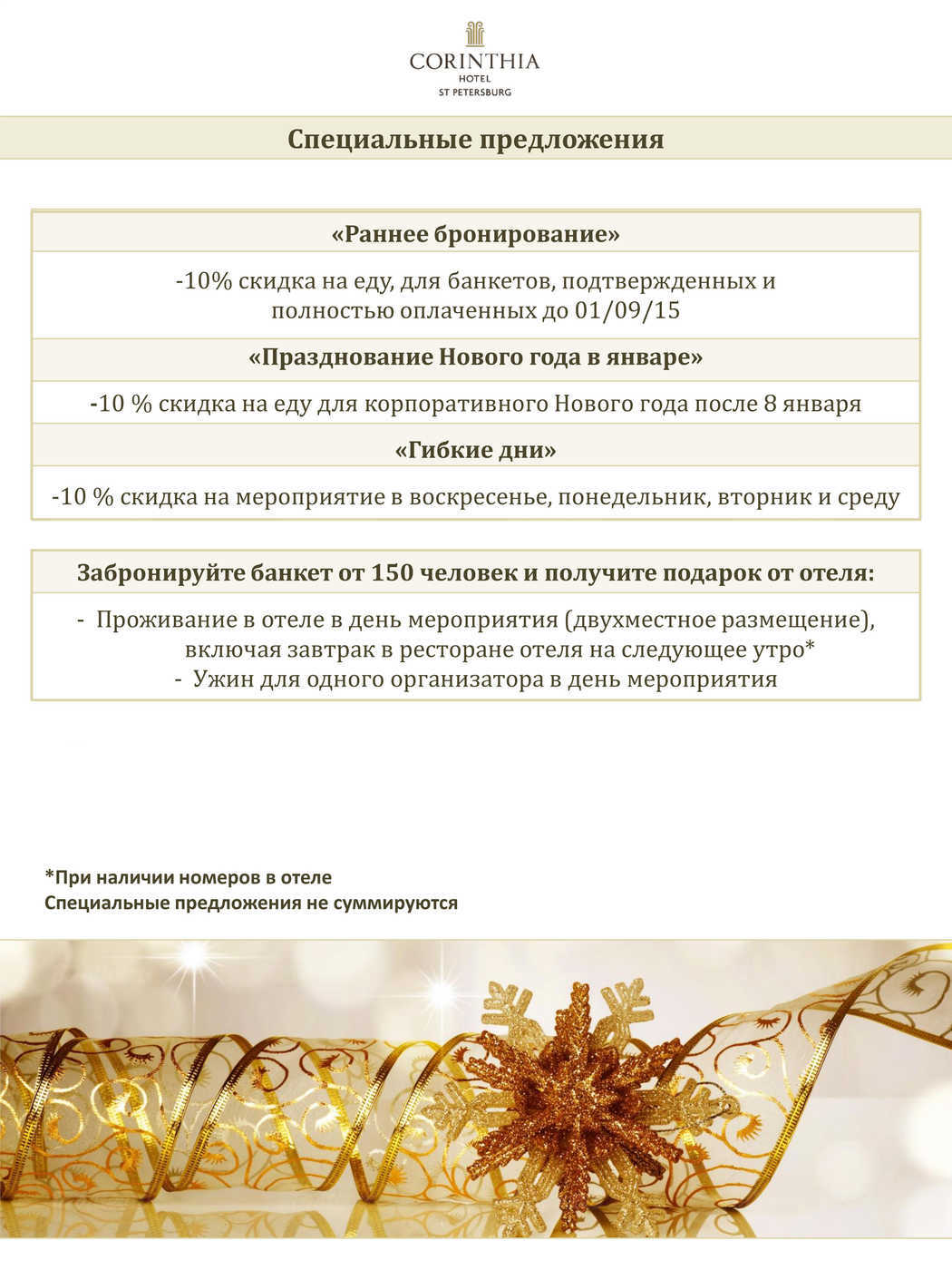 Меню ресторана Nevsky Ballroom (Невский парадный зал) на Невском проспекте