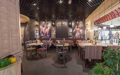 Банкетный зал кафе, ресторана Osteria Mario на Манежной площади