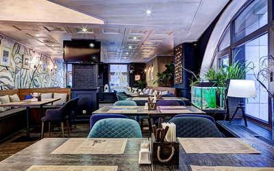 Банкетный зал гастропаба Краб Паб (Crab Pub) на Космодамианской набережной фото 2