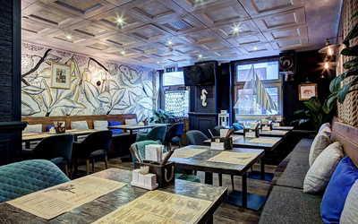Банкетный зал гастропаба Краб Паб (Crab Pub) на Космодамианской набережной фото 3