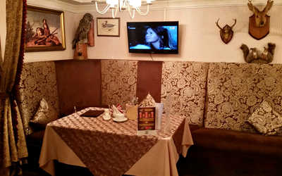 Банкетный зал кафе Охота по-русски на улице Крауля фото 2