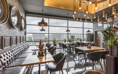 Банкетный зал ресторана Гудман Стейк Хаус (Goodman) на Кировоградской улице фото 1