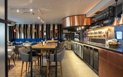 Банкетный зал пивного ресторана Brasserie Lambic (Брассерия Ламбик) на Гоголевском бульваре фото 1