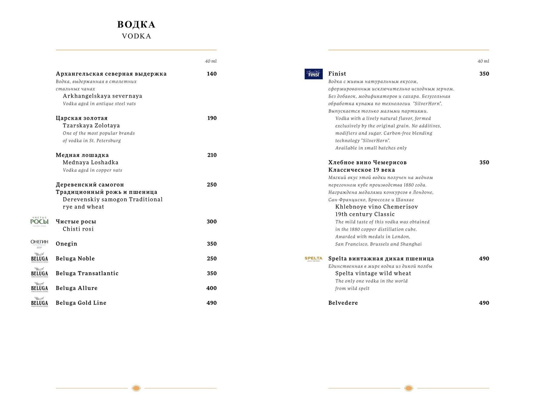Меню ресторана Petrov-Vodkin (Петров-Водкин)  фото 15